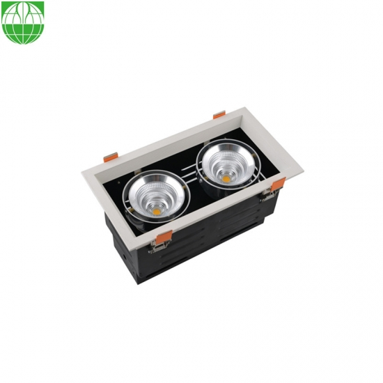 new product 44f82 59ae7 China Multiple 2 Heads LED Grille Recessed Downlight 2X25W ...