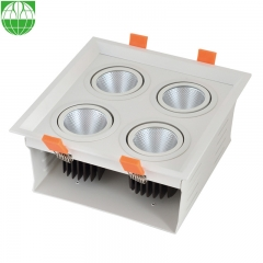 4 Heads LED Grille Down Light