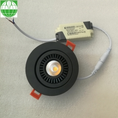 Rotatable LED Downlight Black Color